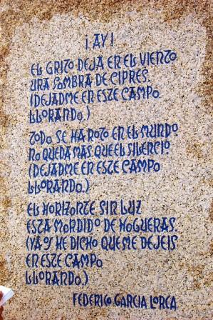 A Federico García Lorca Poem in La Coruña, Galicia [Source: Flickr Creative Commons © ebifry]